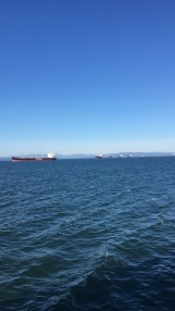 Ships passing through on the Columbia